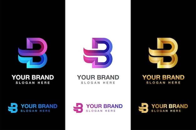 Lettera b con logo aziendale di ali. consegna, branding, logo logistico altre versioni