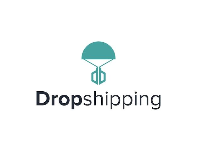 Lettera d ispirazione dropshipping semplice elegante design geometrico creativo moderno logo