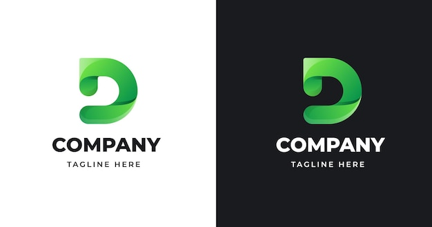 Lettera d logo design illustrazione vettoriale