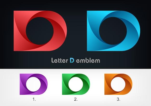 Modello di disegno di icona di marchio di lettera d.
