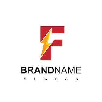 Lettera f energy logo