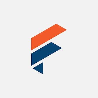 Lettera f logo astratto