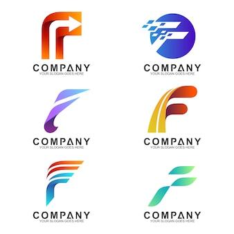 Collezione di lettere f logo