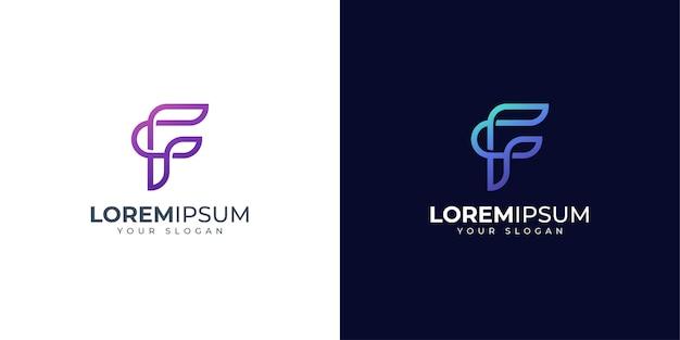 Lettera f logo design ispirazione