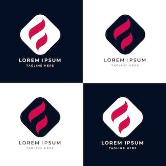 Modello di logo della lettera f
