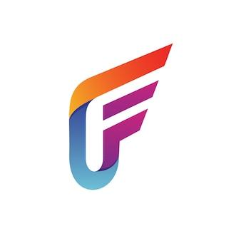 Lettera f logo vettoriale Vettore Premium