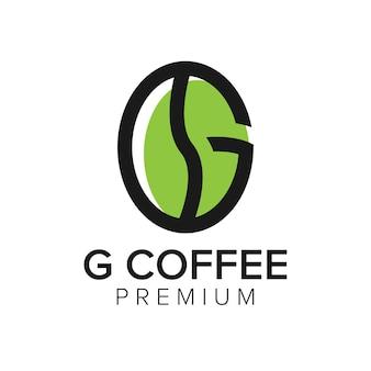 Lettera g caffè logo icona modello vettoriale
