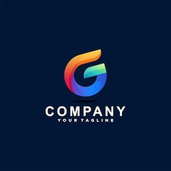 Disegno del logo gradiente lettera g
