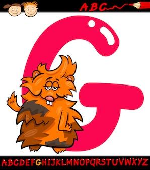 Lettera g per l'illustrazione del fumetto di cavia