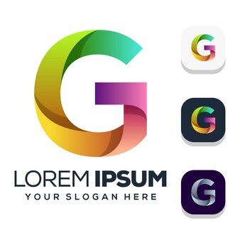 Lettera g logo design isolato su bianco