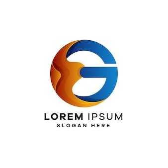 Modelli di progettazione di logo di lettera g.