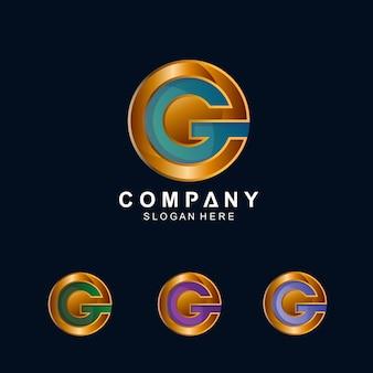 Modello di lettera g logo