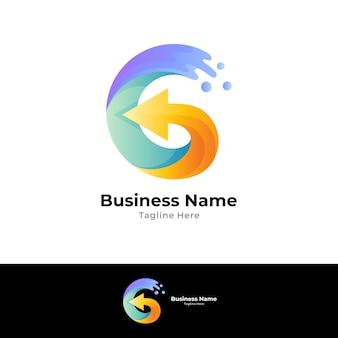 Logo della lettera g con freccia
