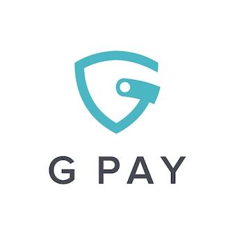 Lettera g e portafoglio semplice elegante design geometrico creativo moderno logo
