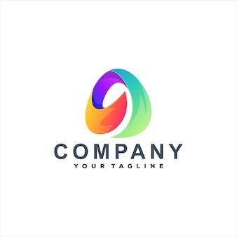 Lettera un design del logo sfumato