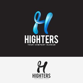 Lettera h logo design template vettoriale