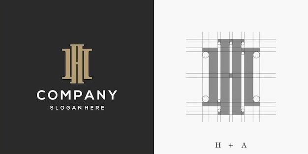 Lettera ha logo design