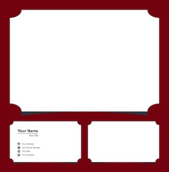 Lettera a esagono logo design element con biglietto da visita premium