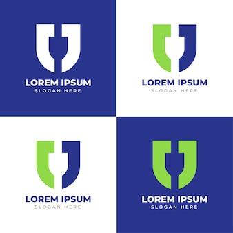 Logo monogramma lettera j modello creativo logo scudo lettera j