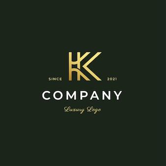 Lettera k logo stile moderno contorno