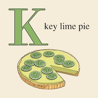 Lettera k con tasto lime pie