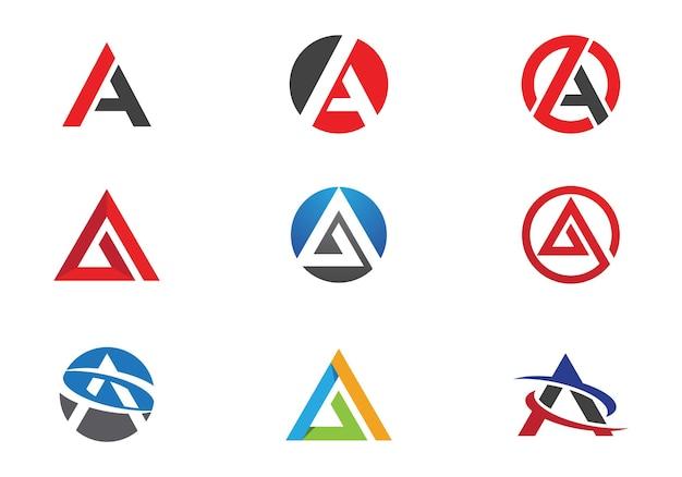 Una lettera logo business template vector icon