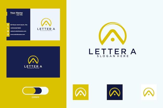 Lettera a logo design e biglietto da visita