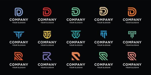 Collezione di design del logo della lettera