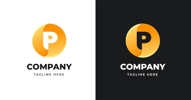 Modello di progettazione di logo di lettera con stile a forma di cerchio