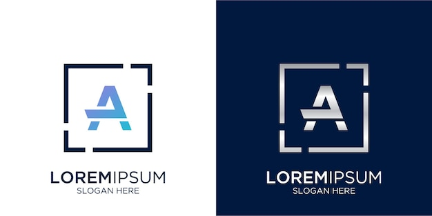 Lettera un modello di progettazione del logo