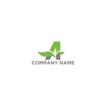 Lettera a logo organic template