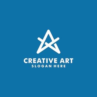 Lettera a logo modello disegno vettoriale