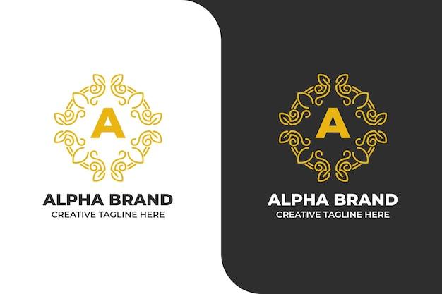 Lettera a logo di lusso