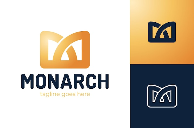 Icona reale di lettera m corona logo re