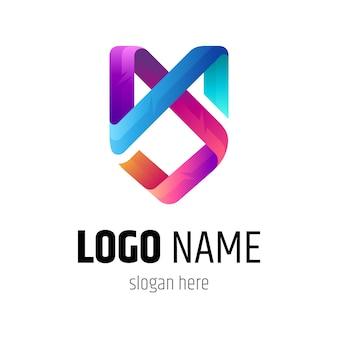 Lettera m e lettera s monogramma logo