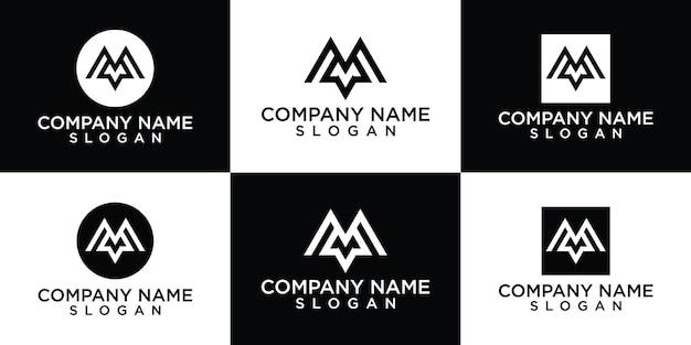 Collezione logo lettera m gratis