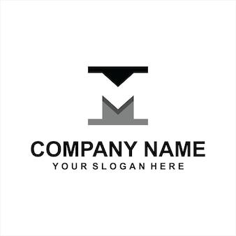 Vettore del logo della lettera m.