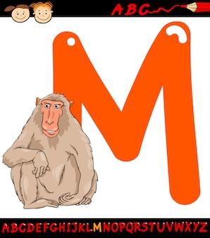 Lettera m per illustrazione fumetto macaco