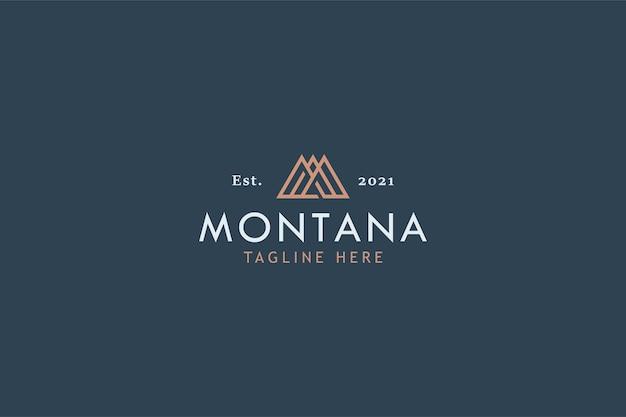 Lettera m con montagna
