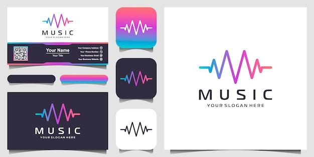 Lettera m con impulso. elemento lettore musicale. logo modello musica elettronica, equalizzatore, negozio, musica per dj, discoteca, discoteca. concetto di logo audio wave, tecnologia multimediale a tema, forma astratta.