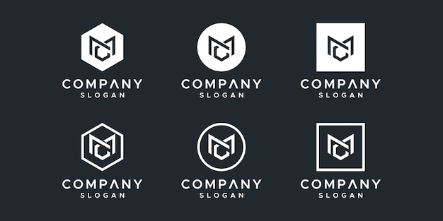 Lettera mc logo design