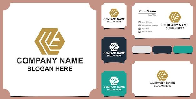 Letterami elementi del modello di progettazione dell'icona del logo illustrazione