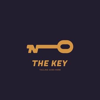 Icona del logo della chiave d'oro lettera n