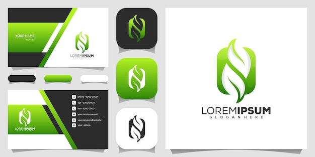 Lettera n logo design