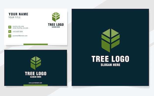 Lettera p con modello logo albero in stile moderno