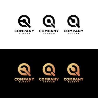 Lettera q set logo design