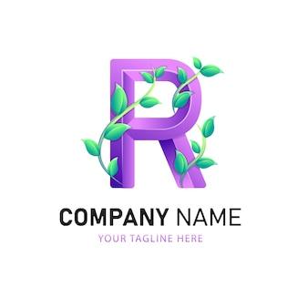 Lettera r logo design, modello di logo colorato