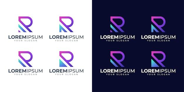Lettera r logo design ispirazione