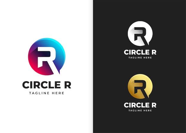 Lettera r logo illustrazione vettoriale con design a forma di cerchio