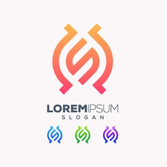 Lettera s logo colorato design